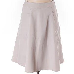 NWOT Reiss Gray A-line Knee L Skirt Size 4